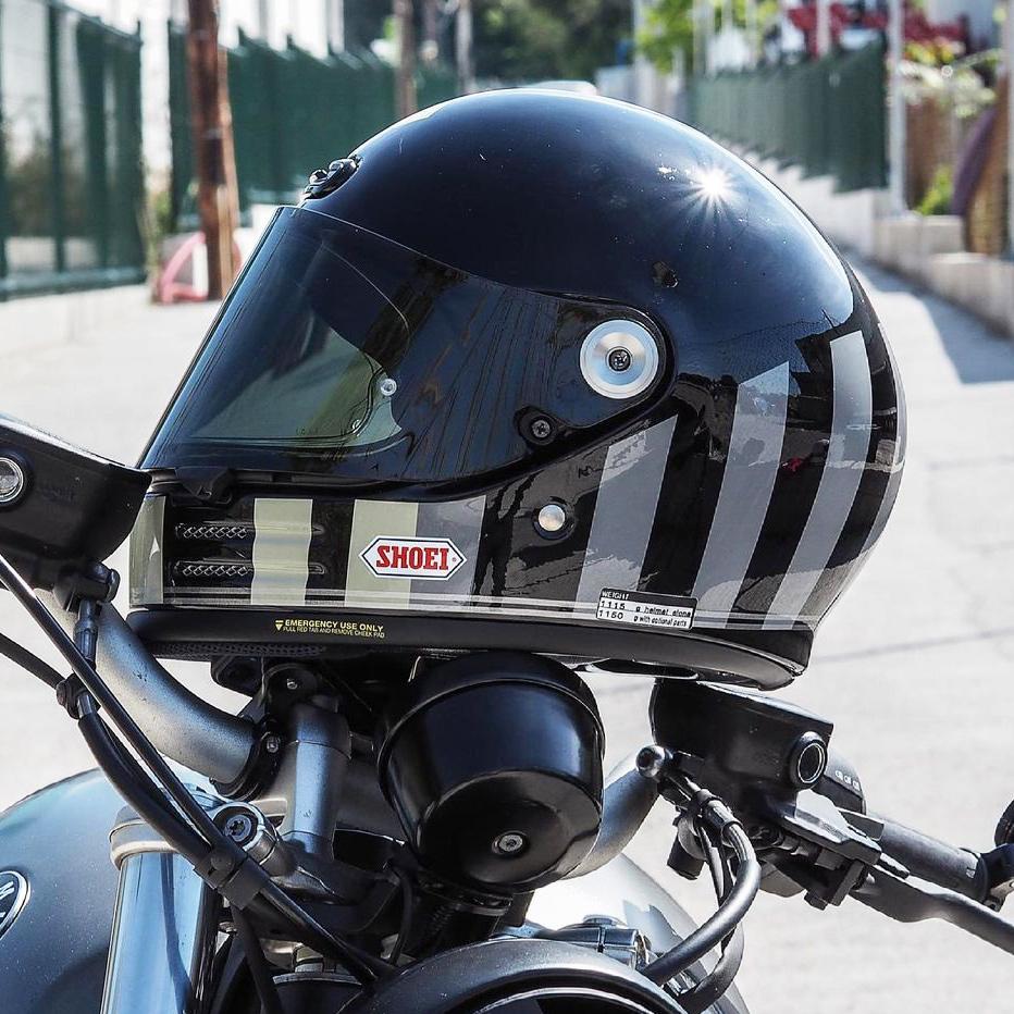 Capacete Shoei Glamster -  Resurrection - TC-5 - Preto/Cinza - LANÇAMENTO  - Planet Bike Shop Moto Acessórios