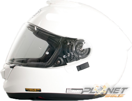 Capacete Shoei GT-Air Branco com Pinlok e Viseira Solar  - Planet Bike Shop Moto Acessórios