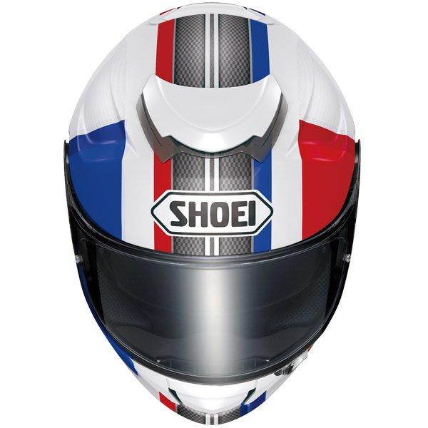 Capacete Shoei GT-Air Exposure Red/Blue TC-10   - Planet Bike Shop Moto Acessórios