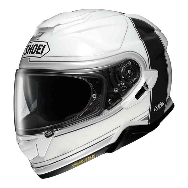 Capacete Shoei GT-Air II Crossbar TC-2 Branco/Azul C/ Viseira Solar  - Planet Bike Shop Moto Acessórios