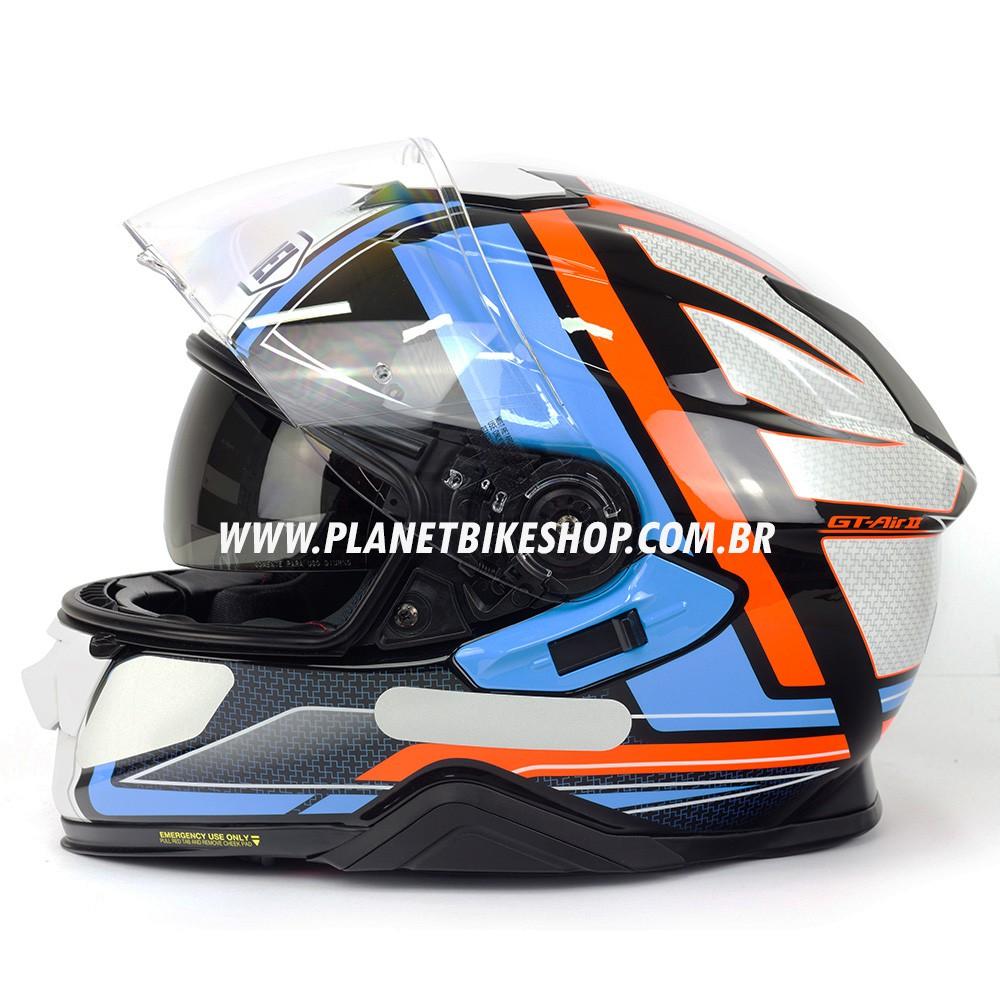 Capacete Shoei GT-Air II Haste TC-2 C/ Pinlock  - Planet Bike Shop Moto Acessórios