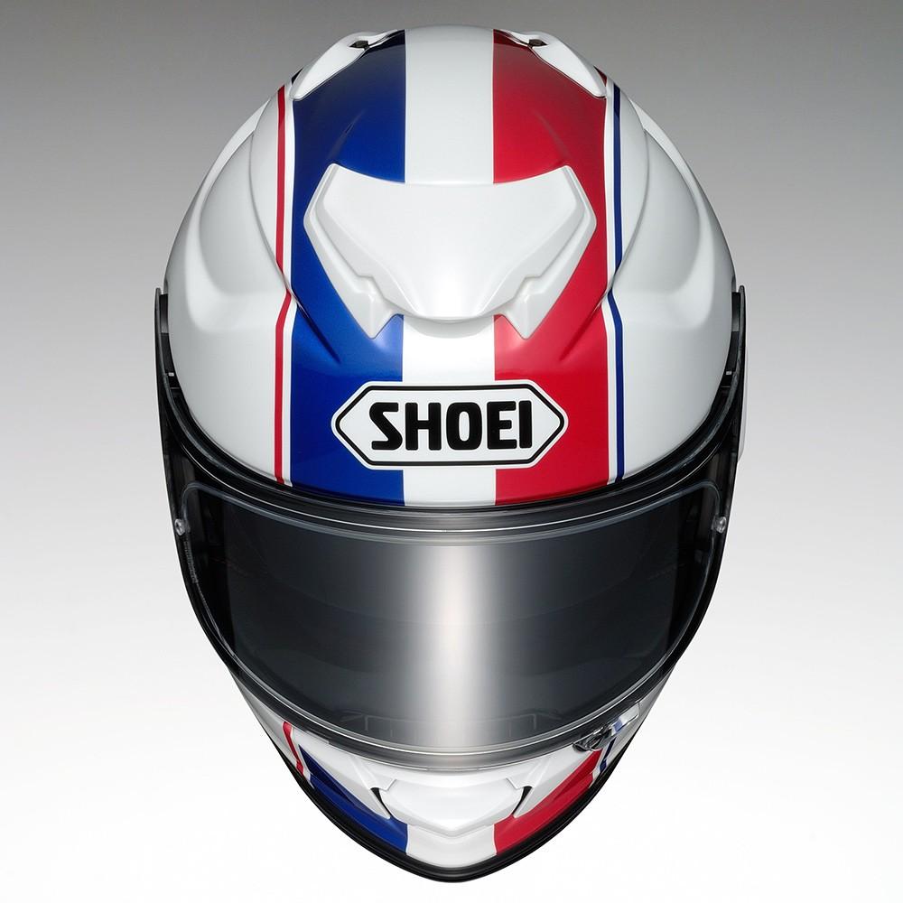 Capacete Shoei GT-Air II Panorama TC-10 - Branco/Azul/Vermelho - C/ Viseira Solar - Lançamento 2020  - Planet Bike Shop Moto Acessórios