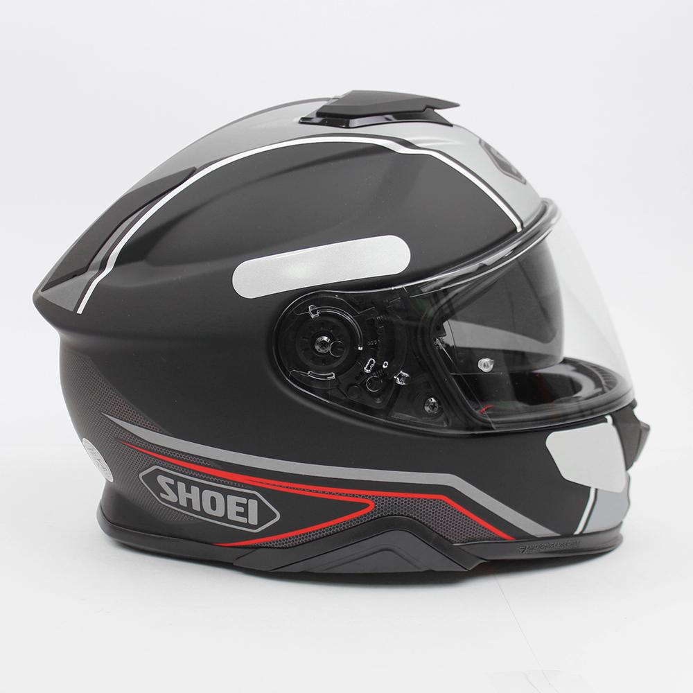 Capacete Shoei GT Air II Panorama TC-5 - Preto/Cinza/Vermelho - C/ Viseira Solar - Lançamento 2020  - Planet Bike Shop Moto Acessórios