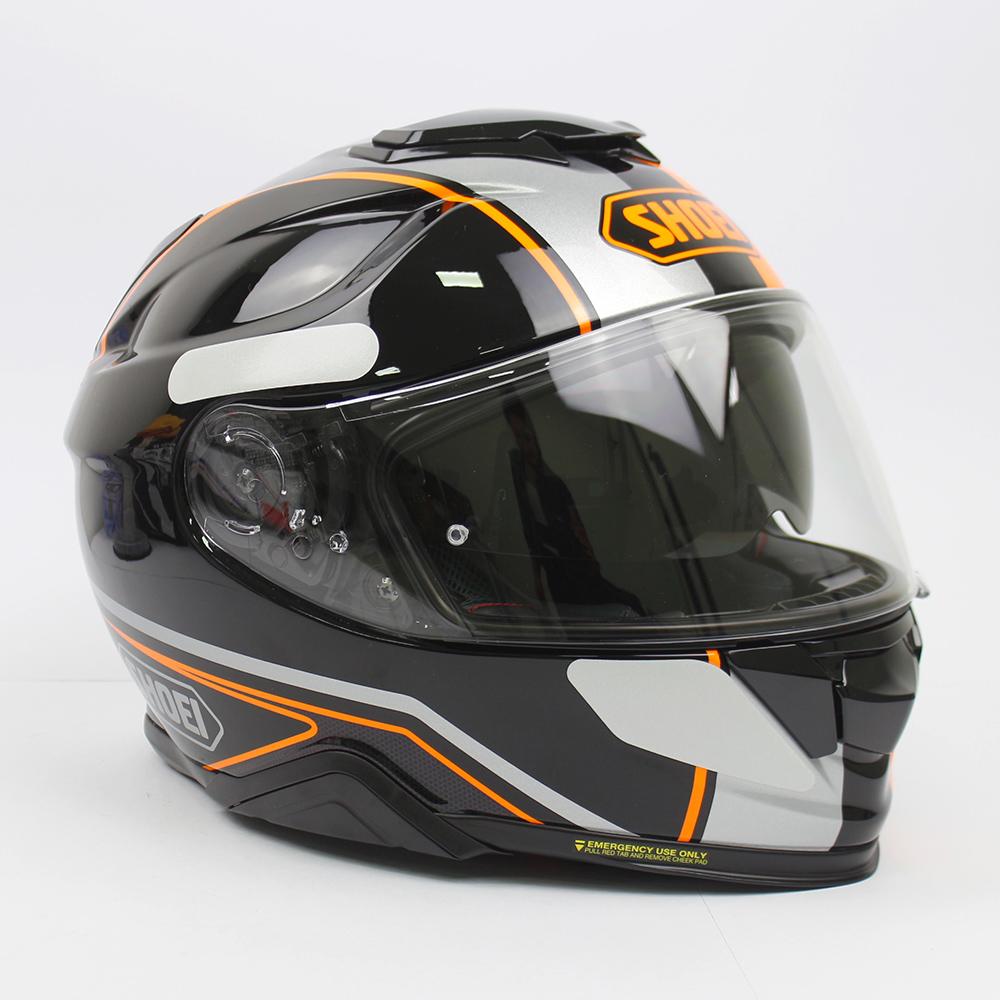 Capacete Shoei GT Air II Panorama TC-8 Preto/Laranja C/ Viseira Solar - Lançamento 2021  - Planet Bike Shop Moto Acessórios