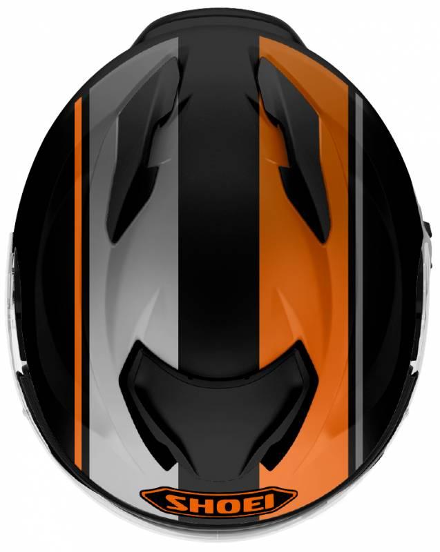 Capacete Shoei GT-Air II Panorama TC-8 Preto/Laranja C/ Viseira Solar - Lançamento 2021  - Planet Bike Shop Moto Acessórios