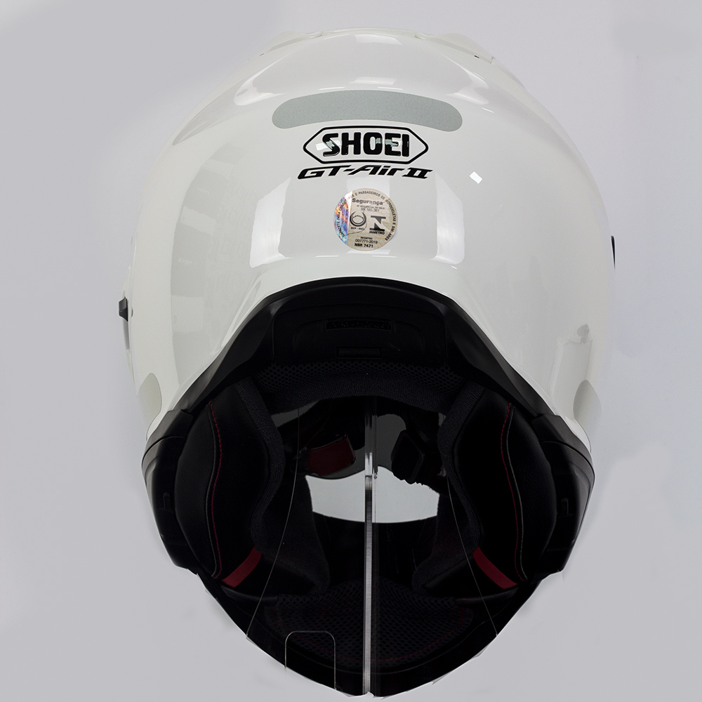 Capacete Shoei GT Air II White C/ Viseira Solar  - Planet Bike Shop Moto Acessórios