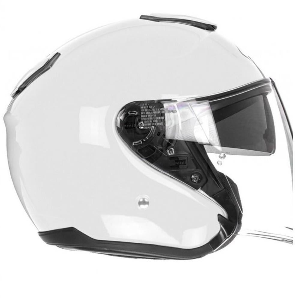 Capacete Shoei J-Cruise Branco Com Viseira Solar  - Planet Bike Shop Moto Acessórios