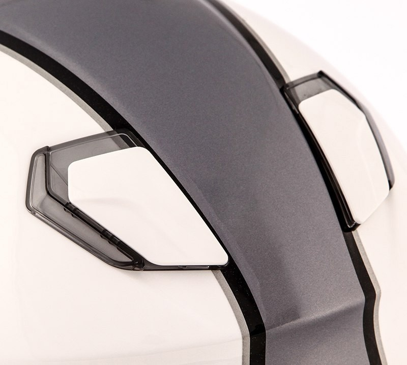 Capacete Shoei J-Cruise Corso Branco/Cinza - Com Viseira Solar - BlackFriday  - Planet Bike Shop Moto Acessórios