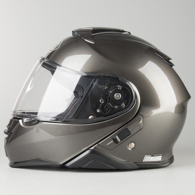 Capacete Shoei Neotec 2 Antracite Brilho Escamoteável   - Planet Bike Shop Moto Acessórios