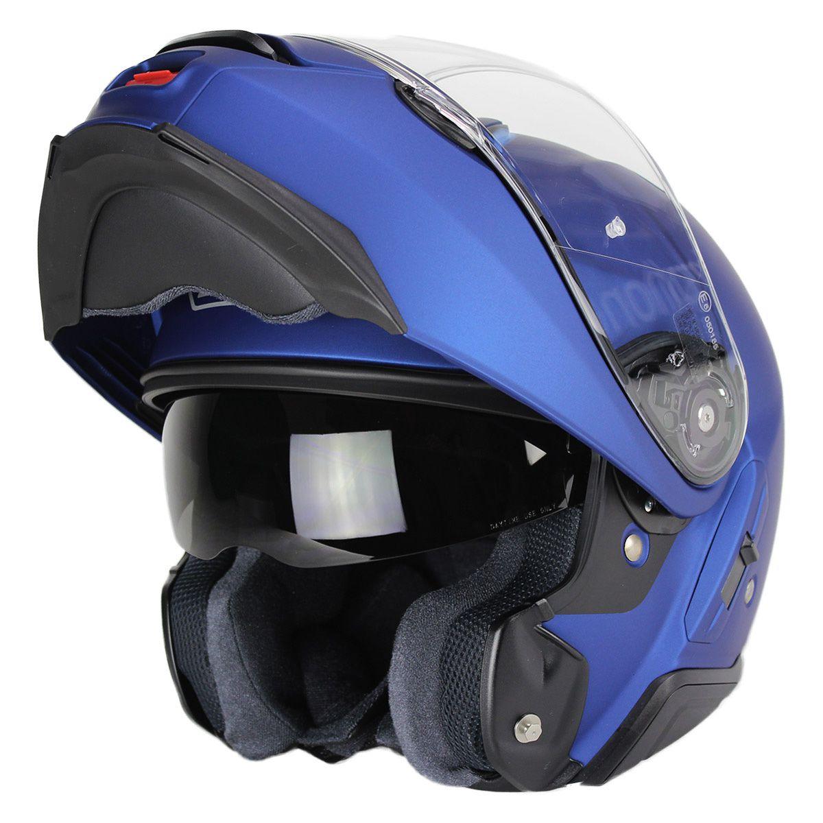 Capacete Shoei Neotec 2 Azul Fosco Escamoteável LANÇAMENTO!!!   - Planet Bike Shop Moto Acessórios