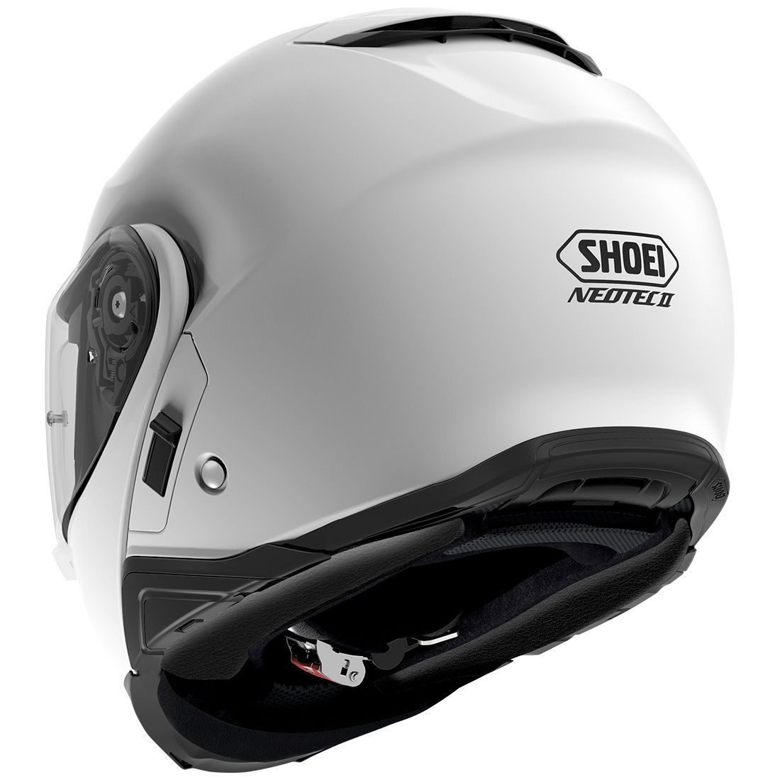 Capacete Shoei Neotec 2 Branco Brilho Escamoteável LANÇAMENTO 2018  - Planet Bike Shop Moto Acessórios
