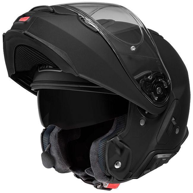 Capacete Shoei Neotec 2 Preto Brilho Escamoteável   - Planet Bike Shop Moto Acessórios