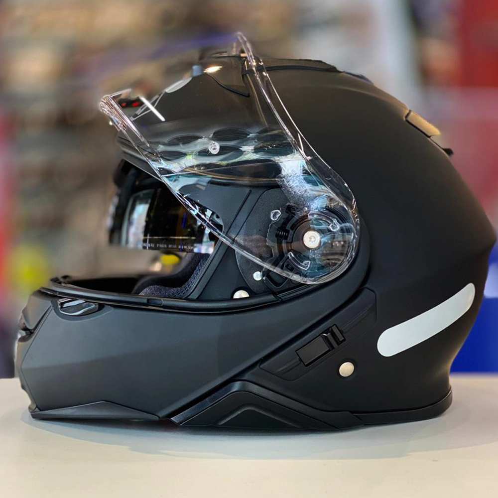 Capacete Shoei Neotec 2 Preto Fosco Escamoteável  - Planet Bike Shop Moto Acessórios