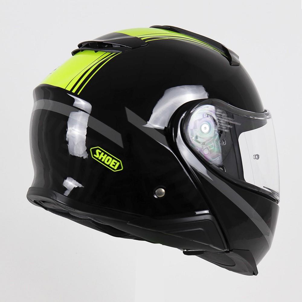 Capacete Shoei Neotec 2 Separator TC-3 - Preto/Amarelo Escamoteável - LANÇAMENTO   - Planet Bike Shop Moto Acessórios