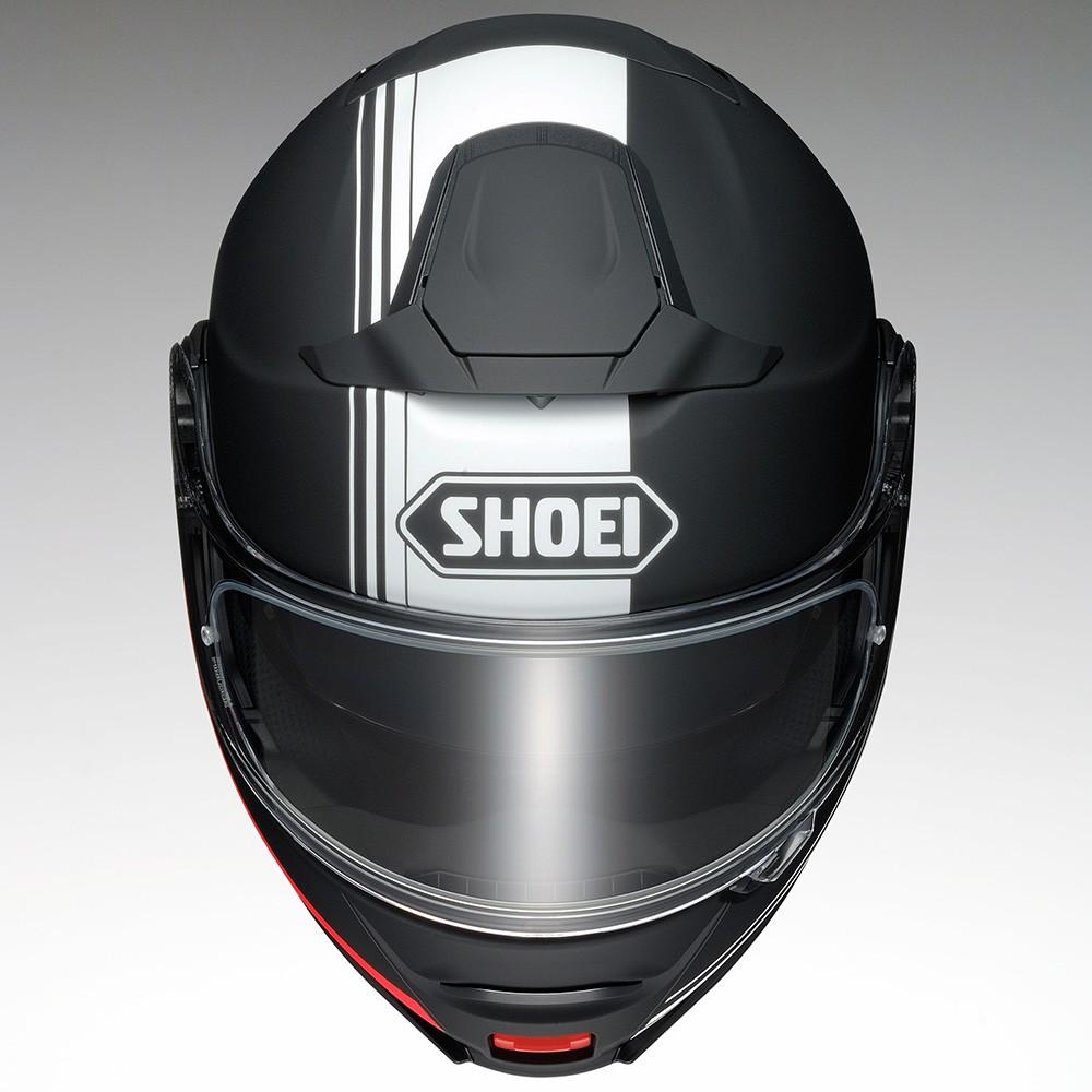 Capacete Shoei Neotec 2 Separator TC-5 - Preto/Branco/Vermelho Escamoteável - LANÇAMENTO   - Planet Bike Shop Moto Acessórios