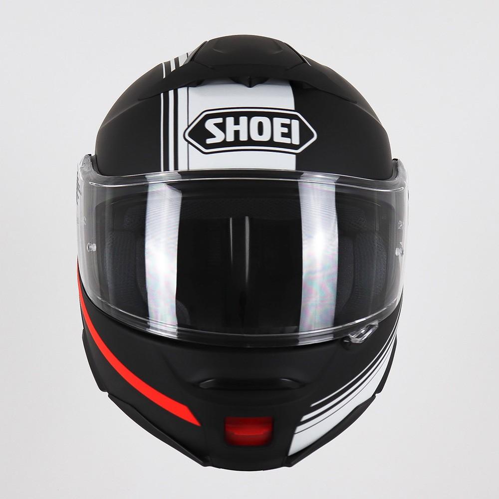 Capacete Shoei Neotec 2 Separator TC-5 - Preto/Branco/Vermelho Escamoteável  - Planet Bike Shop Moto Acessórios
