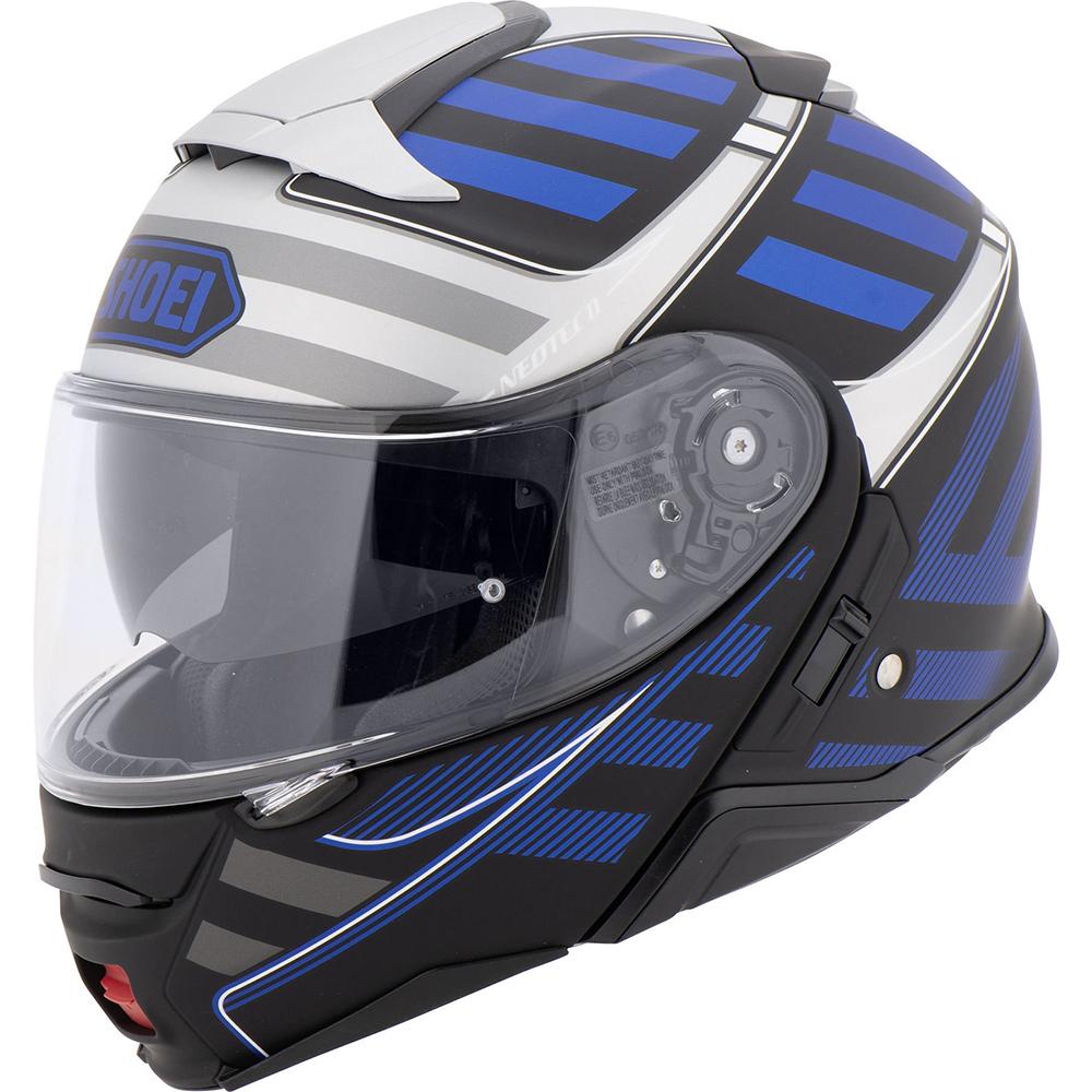 Capacete Shoei Neotec 2 Splicer TC-2 Azul Escamoteável  - Planet Bike Shop Moto Acessórios