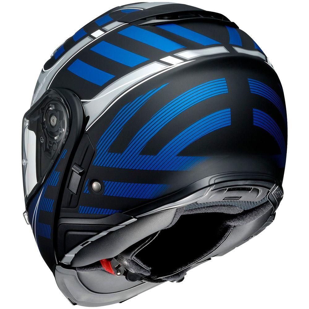 Capacete Shoei Neotec 2 Splicer TC-2 Azul Escamoteável - LANÇAMENTO   - Planet Bike Shop Moto Acessórios