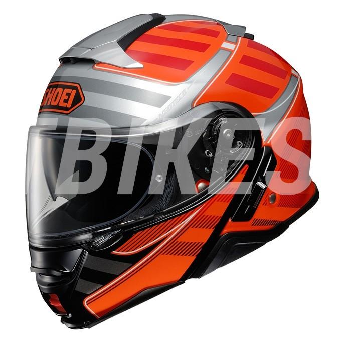 Capacete Shoei Neotec 2 Splicer TC-8 Laranja Escamoteável  - Planet Bike Shop Moto Acessórios