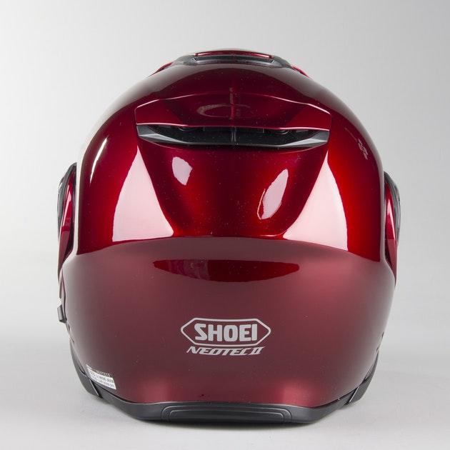 Capacete Shoei Neotec 2 Vinho Escamoteável/Articulado  - Planet Bike Shop Moto Acessórios