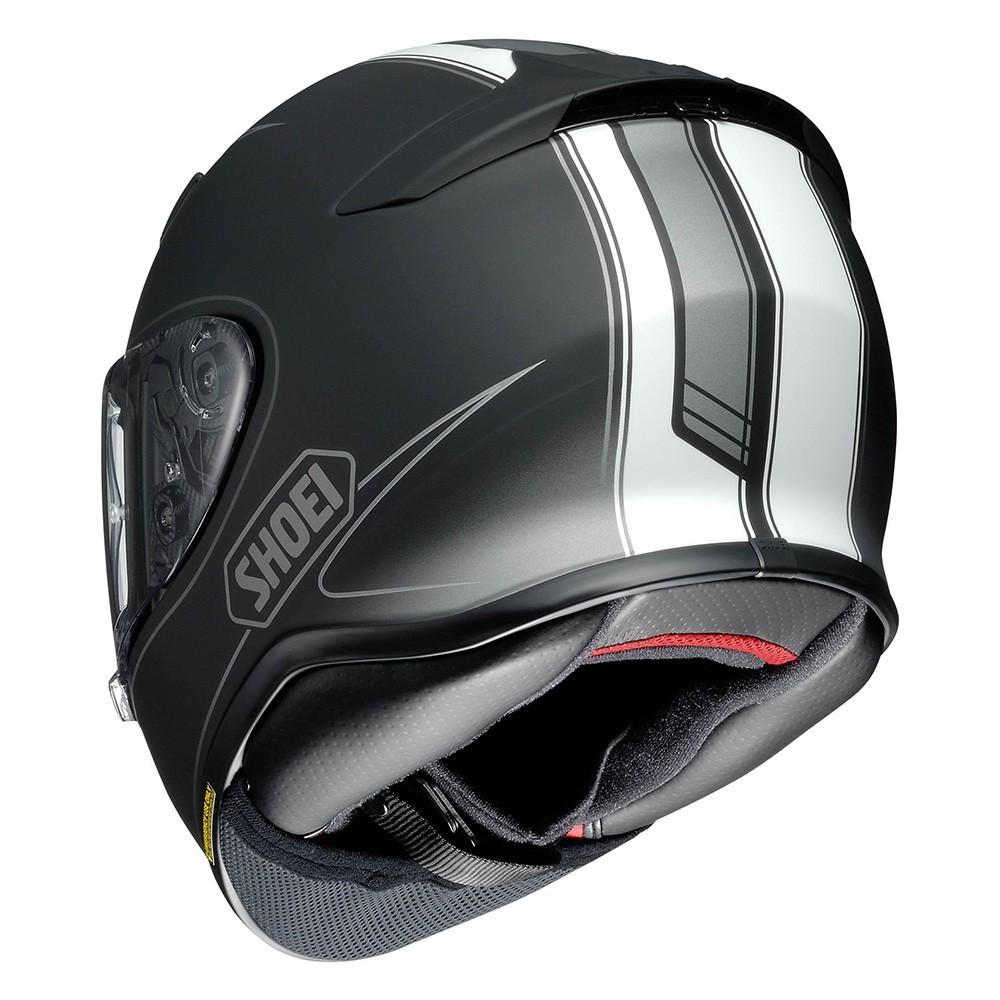 Capacete Shoei NXR Flagger TC-5 Preto/Branco  - Planet Bike Shop Moto Acessórios