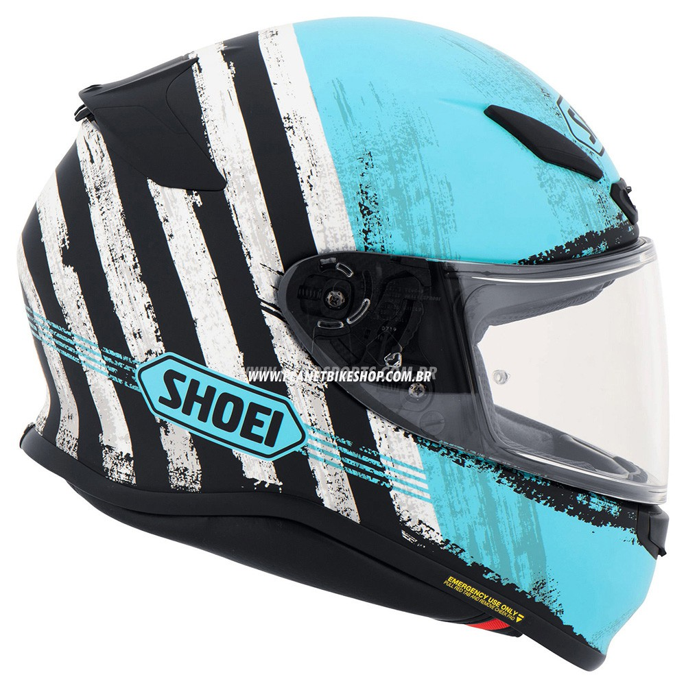 Capacete Shoei NXR Shorebreak TC-2 Azul Claro - NOVO!   - Planet Bike Shop Moto Acessórios