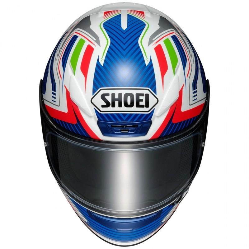 Capacete Shoei NXR Stab TC-2 Branco/Azul- NOVO!   - Planet Bike Shop Moto Acessórios
