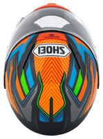 Capacete Shoei NXR Stab TC-8 Laranja/Azul Novo!  - Planet Bike Shop Moto Acessórios