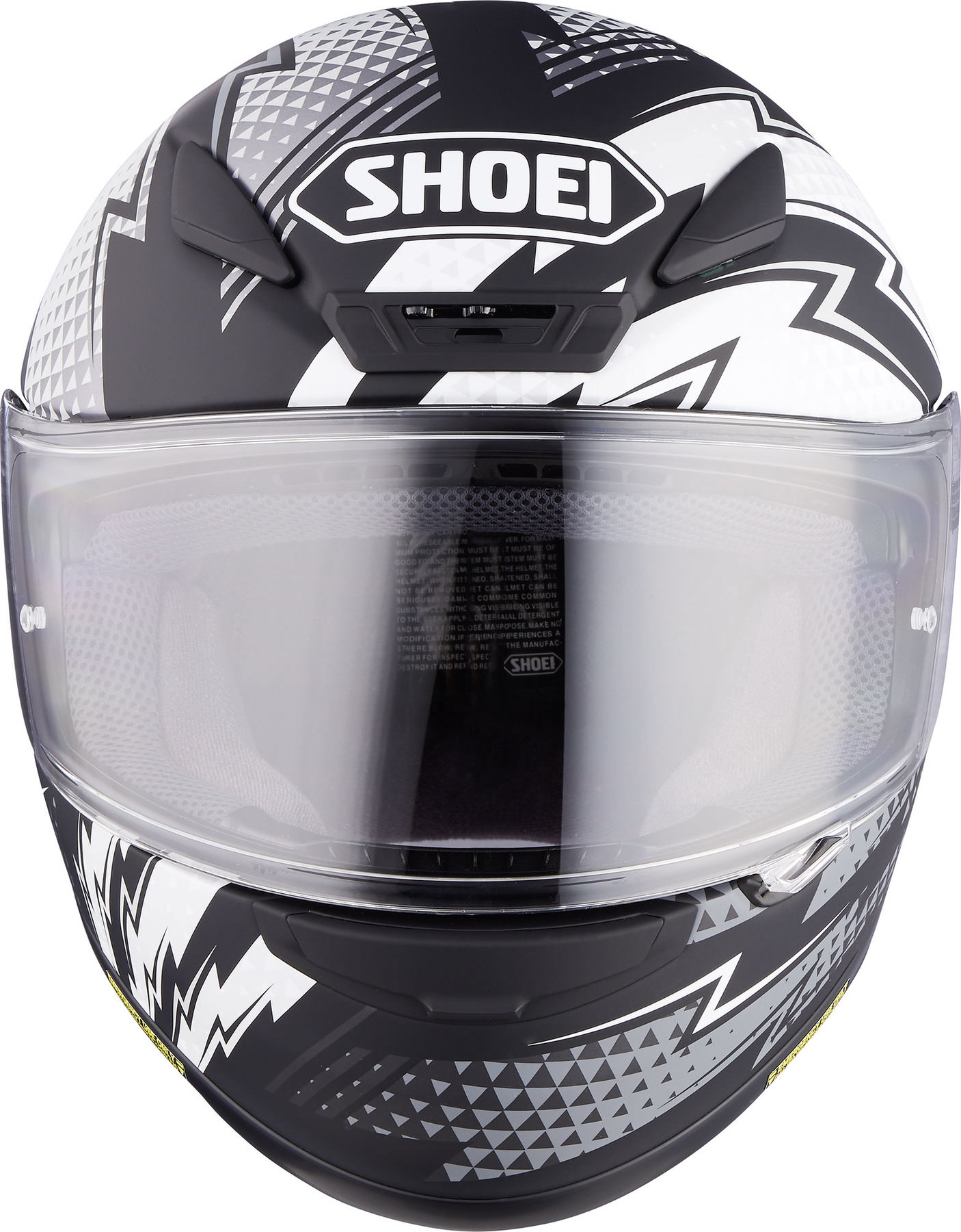 Capacete Shoei NXR Variable TC-5 Preto/Branco - Lançamento  - Planet Bike Shop Moto Acessórios