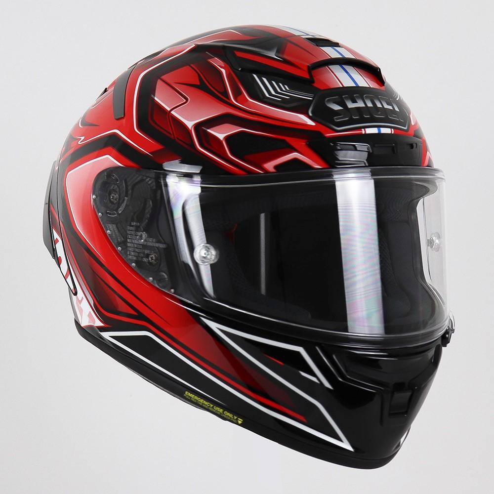 Capacete Shoei X-Spirit III Aerodyne TC-1 - Vermelho/Preto (X-FOURTEEN)   - Planet Bike Shop Moto Acessórios