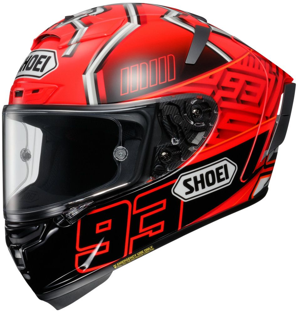 Capacete Shoei X-Spirit III Marc Marquez 4 Replica TC-1 (X-fourteen)  - Planet Bike Shop Moto Acessórios
