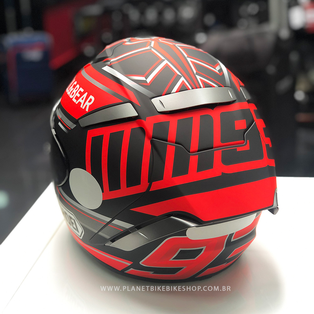 Capacete Shoei X-Spirit III Marc Marquez Replica TC-1 Concept (X-fourteen)  - Planet Bike Shop Moto Acessórios