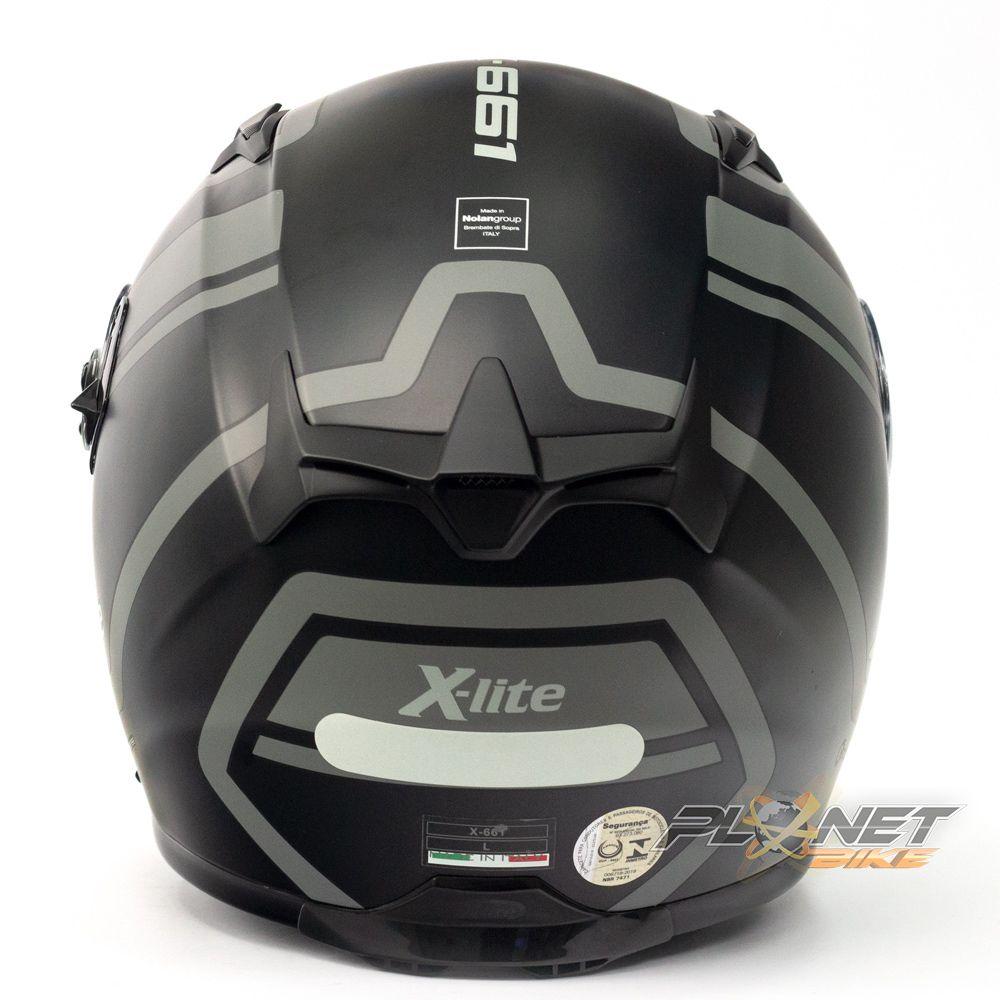 Capacete X-Lite X-661 Conrad Flat Black 43 (GANHE TOUCA BALACLAVA X-LITE)  - Planet Bike Shop Moto Acessórios