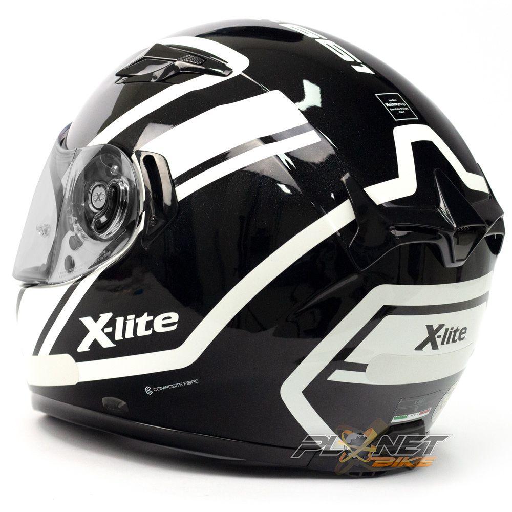 Capacete X-lite X-661 Conrade Branco (44) - SuperOferta  - Planet Bike Shop Moto Acessórios