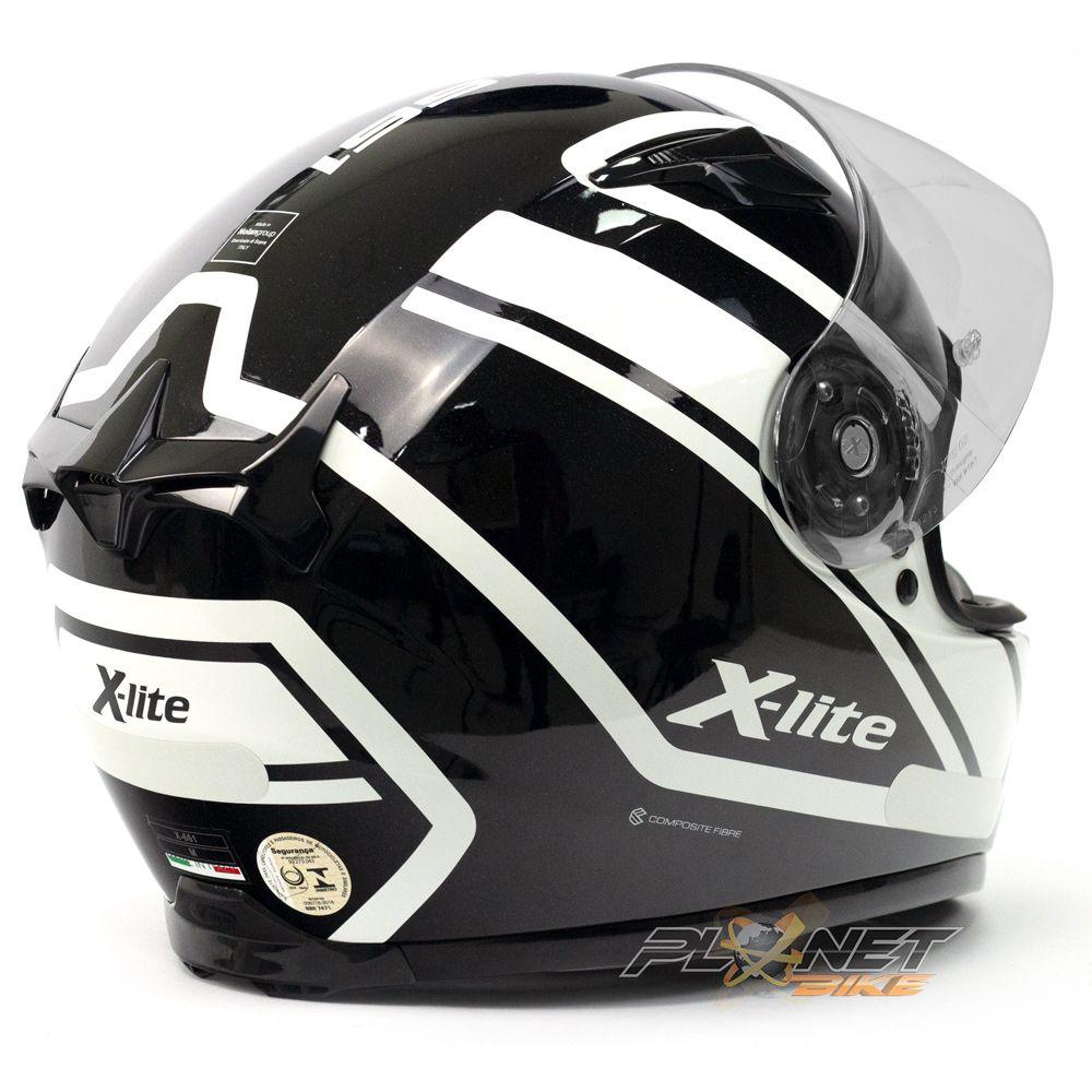 Capacete X-lite X-661 Conrade Branco (44) Tri-Composto - Brinde Pinlock Anti-Embaçante - Blackfriday  - Planet Bike Shop Moto Acessórios