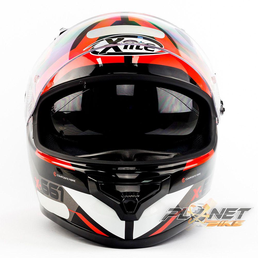 Capacete X-lite X-661 Motivator Vermelho(46) Tri-Composto - Brinde Pinlock Anti-Embaçante - Blackfriday  - Planet Bike Shop Moto Acessórios