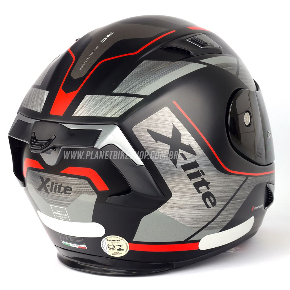 Capacete X-Lite X-803 Agile Preto/Vermelho -  SuperOferta  - Planet Bike Shop Moto Acessórios