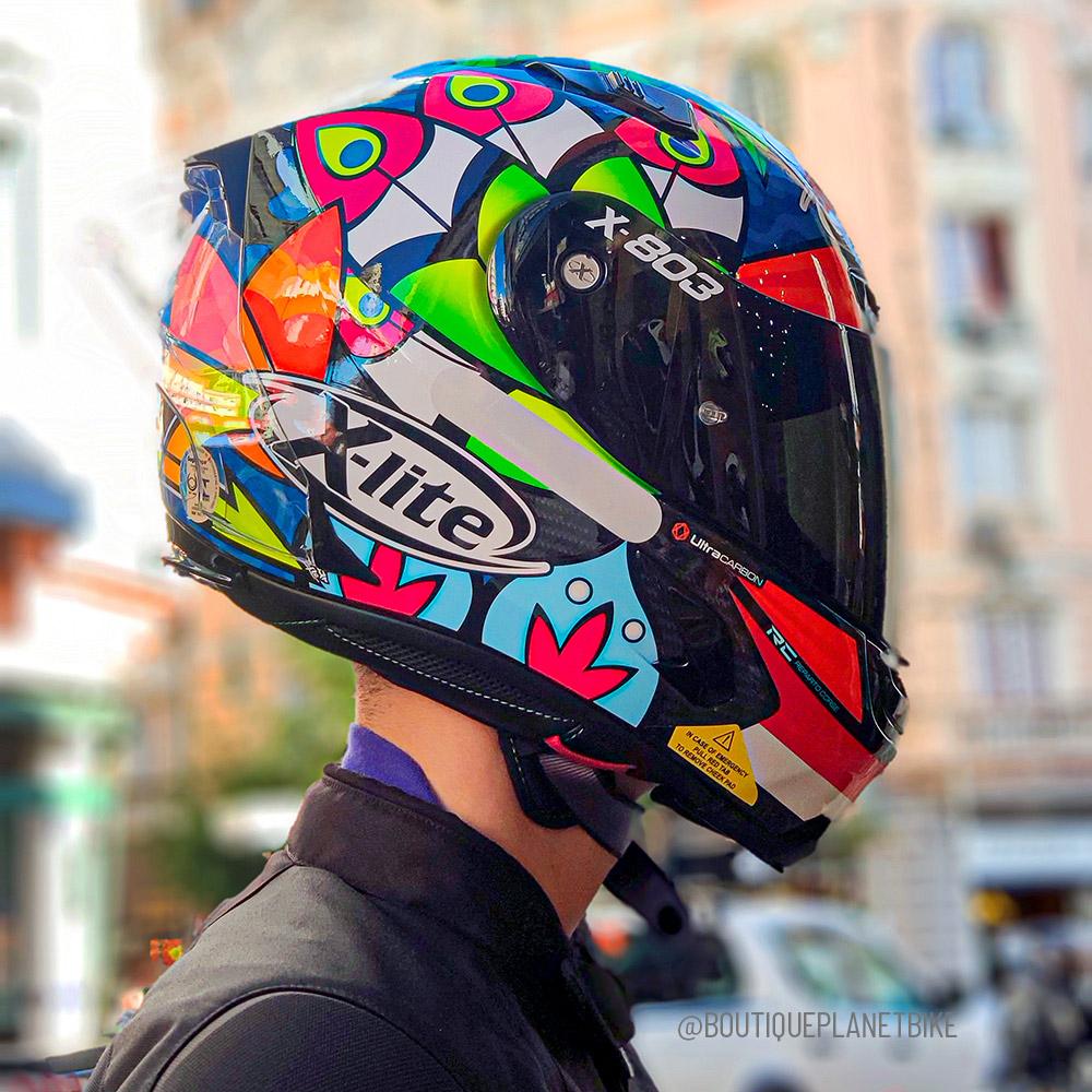 Capacete X-Lite X-803 RS Ultra Carbon Chaz Davies -  Ganhe Touca Balaclava  - Planet Bike Shop Moto Acessórios