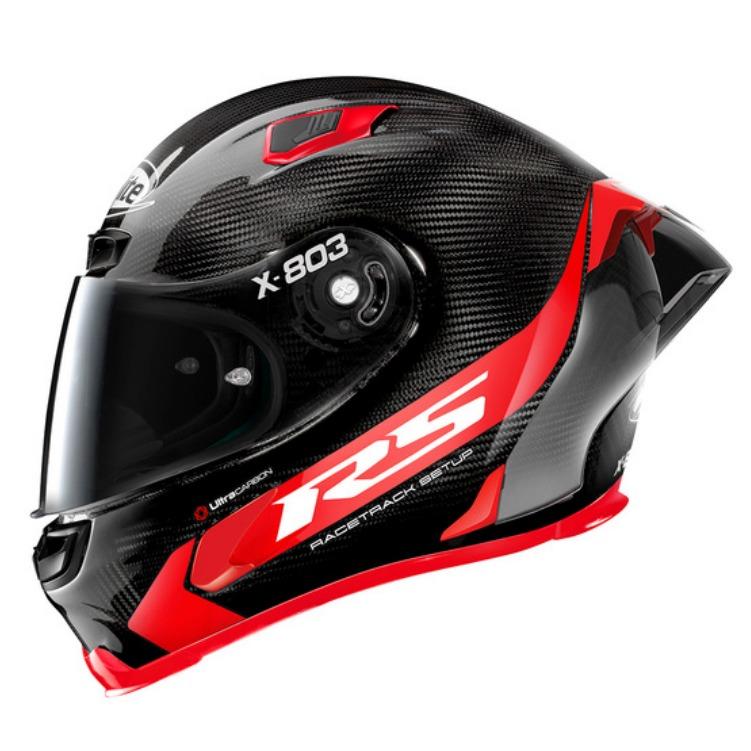 Capacete X-Lite X-803 RS Ultra Carbon HOTLAP Preto/Vermelho -  Ganhe Touca Balaclava  - Planet Bike Shop Moto Acessórios