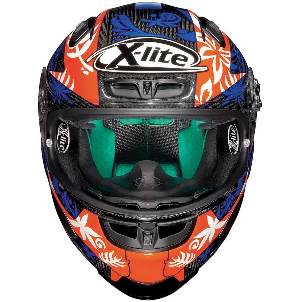 Capacete X-Lite X-803 Ultra Carbon Petrucci Oficial - Ganhe Balaclava X-Lite  - Planet Bike Shop Moto Acessórios
