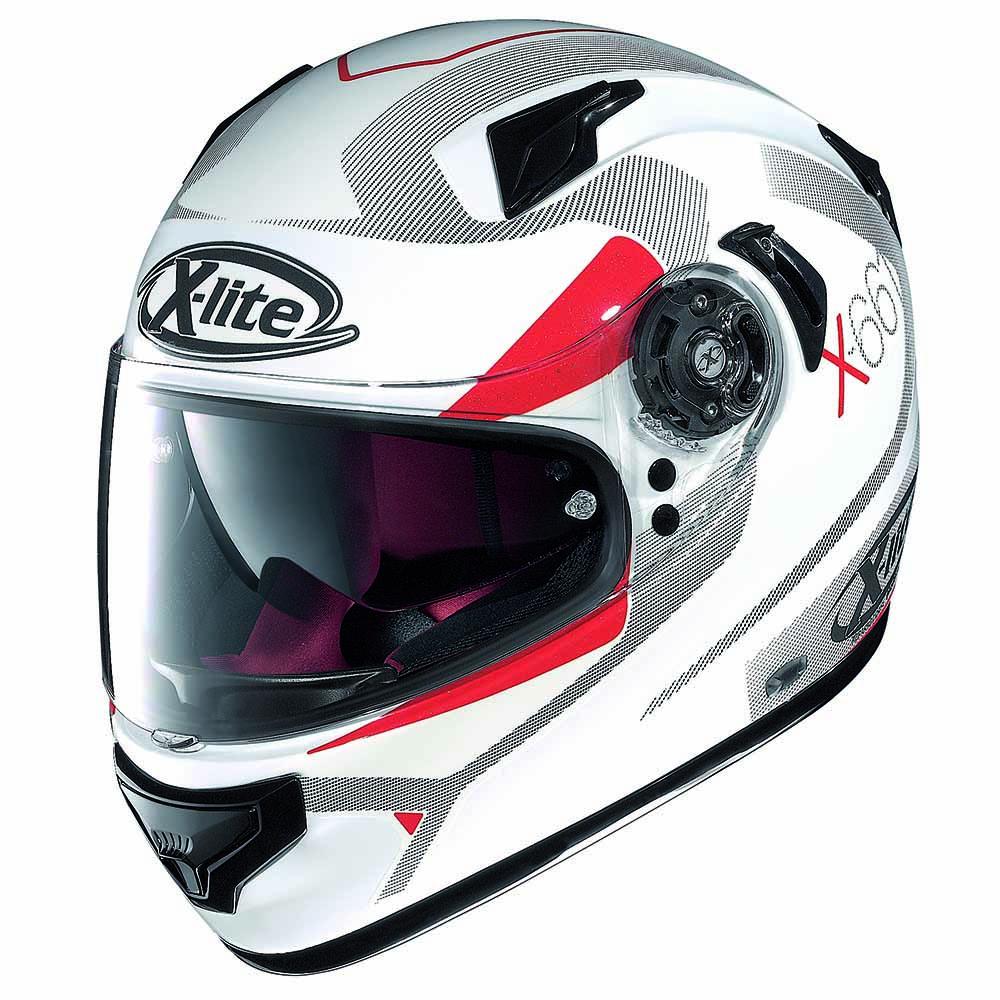 Capacete X-Lite X-661 Point Croix Metal White - NOVO! - Ganhe Balaclava Exclusiva!  - Planet Bike Shop Moto Acessórios
