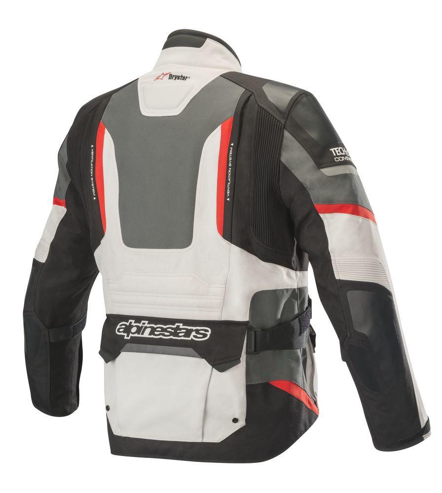 JAQUETA ALPINESTARS ANDES PRO DRYSTAR® AIR TECH COMPATIBLE - CINZA/PRETO/VERMELHO - IMPERMEÁVEL  - Planet Bike Shop Moto Acessórios