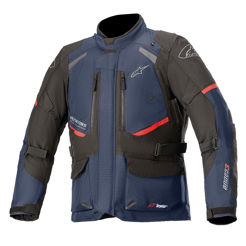Jaqueta Alpinestars Andes V3 Azul DRYSTAR® 100% Impermeável   - Planet Bike Shop Moto Acessórios