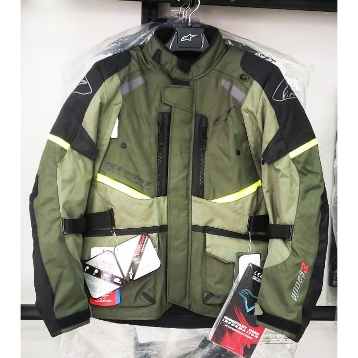 Jaqueta Alpinestars Andes V3 Verde Escuro DRYSTAR® 100% Impermeável  - Planet Bike Shop Moto Acessórios