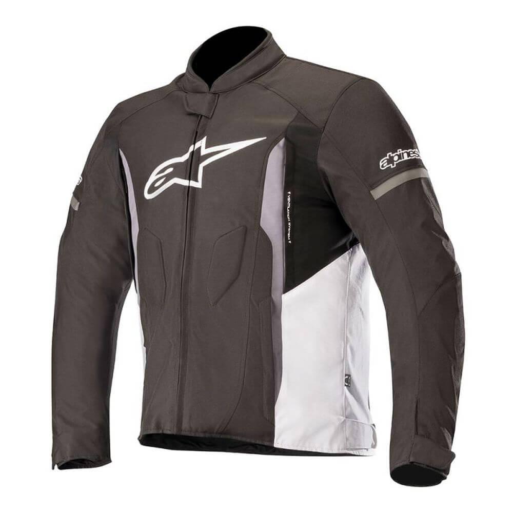 Jaqueta Alpinestars T-Faster Preta/Branco  - Planet Bike Shop Moto Acessórios