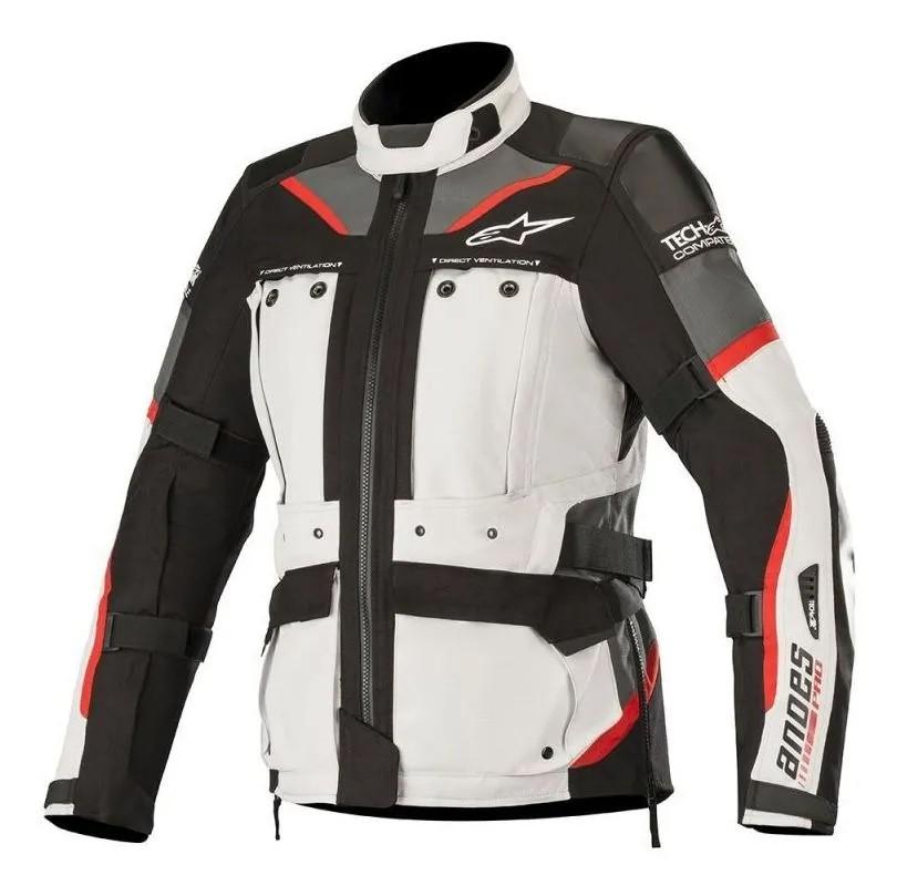 Jaqueta Alpinestars Stella Andes Pro DRYSTAR® Cinza Claro/Preta AIR TECH COMPATIBLE - IMPERMEÁVEL  - Planet Bike Shop Moto Acessórios
