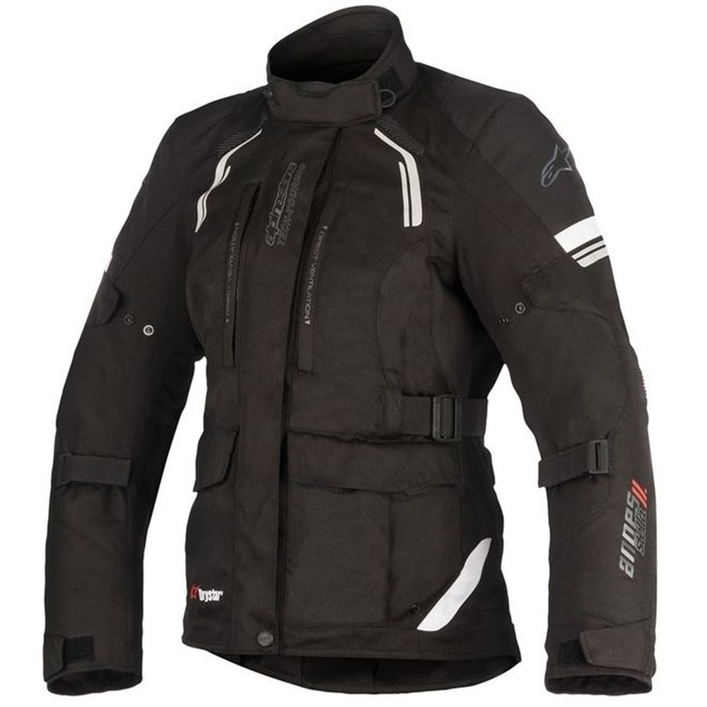 jaqueta Alpinestars Stella Andes V2 DRYSTAR® Preta 100% Impermeável   - Planet Bike Shop Moto Acessórios