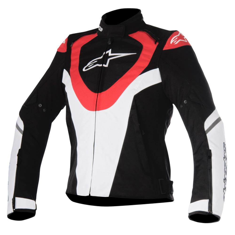 Jaqueta Alpinestars Stella Caladan WP Feminina Impermeável  (Branca, Vermelha e Preta)  - Planet Bike Shop Moto Acessórios