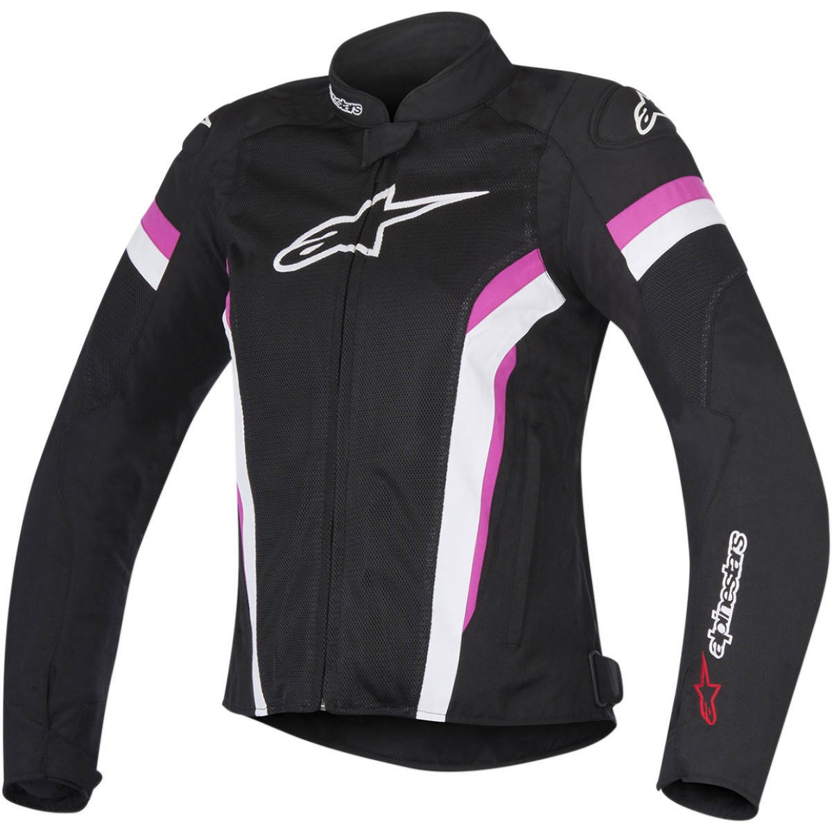 Jaqueta Alpinestars Stella T-GP Plus R Air V2 Preta/Rosa/ Branca  - Planet Bike Shop Moto Acessórios