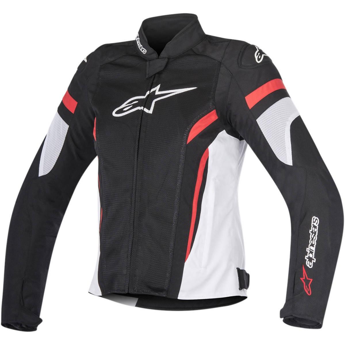 Jaqueta Alpinestars Stella T-GP Plus R Air V2  Preta/Vermelha/ Branca LANÇAMENTO!  - Planet Bike Shop Moto Acessórios
